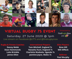Virtual Rugby 7s Event-27 June 2020