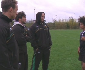 Northampton Players Support Grassroots Rugby